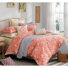 Bedding Set Queen by Port Lucie Floral Coral Comforter Set U2013 Sky Iris