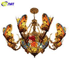 Art Glass Chandeliers Aliexpress Com Buy Fumat Stained Glass Chandeliers Creative Art