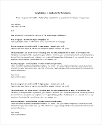 application letter format scholarship application letter format