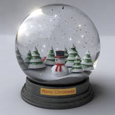 snowglobe animated 3d cgtrader