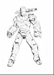 surprising iron man war machine coloring pages ironman