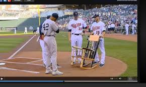 Broken Rocking Chair Mariano Rivera Presented With Broken Bat Chair By Twins Video