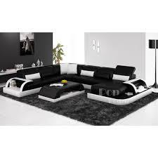 canap panoramique design canapé d angle xl canap d 39 angle design marron et blanc marita xl