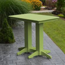 Lime Green Table L A L Furniture Poly Bar Table Color Lime Green Table Size 48 L
