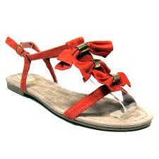 ladies womens primark gladiator orange sandals beach summer shoes