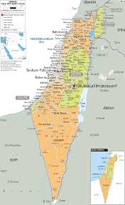 A New Map Of Jewish by Detailed Political Map Of Israel Ezilon Maps