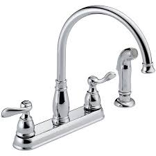kitchen sprayer faucet delta 21996lf windemere kitchen faucet with side spray and two