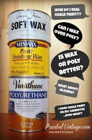 Can You Use Chalk Paint On Kitchen Cabinets Wax Or Polycrylic Over Chalk Paint Painted Vintage