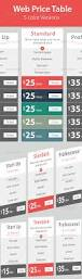 Smart Table Price by Web U0026 Hosting Price Table By Hanifharoon Graphicriver