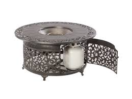 patio ideas round propane fire pit table with book reading