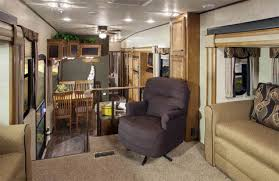 5th wheel with living room in front modern front living room fifth wheel with iron fence used at rv 5th