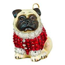 fawn pug ornament frontgate