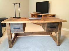 Steel Pipe Desk by His U0026 Her Home Reclaimed Wood And Steel Pipe Desk Customdesk