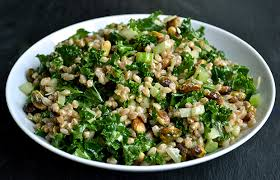 healthy thanksgiving recipes pistachio farro and kale salad the