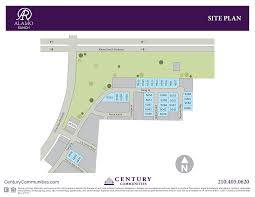 site plan for alamo ranch santa maria a century homes community