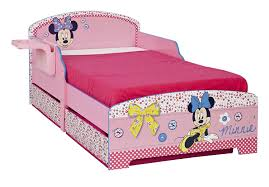 Minnie Mouse Bedroom Set Toddler Disney Minnie Mouse Toddler Bed Underbed Storage And Shelf