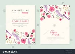 wedding invitation card suite flower templates stock vector