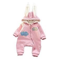 newborn jumpsuit lpattern newborn baby jumpsuit rabbit ear hooded warm romper