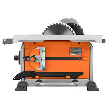 Job Site Table Saw Ridgid 15 Amp 10 In Portable Jobsite Table Saw R4516 Check