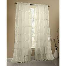 amazon com gee di moda cream ruffle curtains gypsy lace curtains