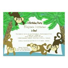 Jungle Birthday Card Chimpanzee Birthday Cards Greeting Photo Cards Zazzle
