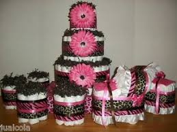 cheetah baby shower girl baby shower set of cheetah zebra hot pink brown cake
