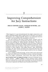 improving comprehension for jury instructions springer