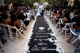 wedding runner stenciling an aisle runner