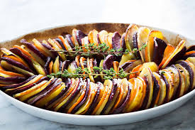 Southern Comfort Sweet Potatoes Sweet Potato And Yukon Gold Bake Recipe Simplyrecipes Com