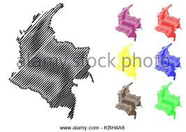 colombia map vector colombia map vector illustration scribble sketch colombia stock