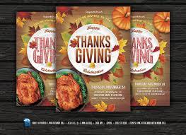thanksgiving flyer flyer templates creative market