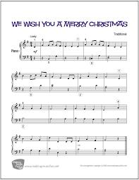 we wish you a merry piano sheet digital print
