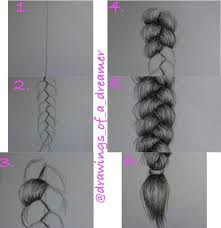 how to draw a braid step by step drawings pinterest