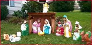 nativity outdoor yard nativity outdoor nativity lighted outdoor lighted