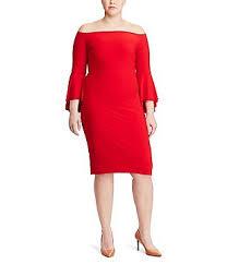 plus size 3 4 sleeve mid length daytime dresses dillards