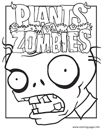logo plants zombies coloring pages printable