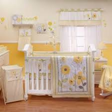 Girls Bright Bedding by Yellow Toddler Bedding Sets Flower Appliqued Nursery 8pc