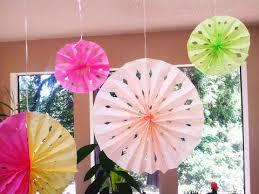 hanging paper fans diy tissue paper rosette fans