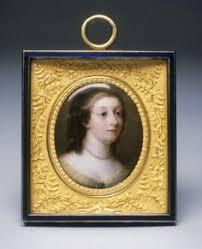 Gilt Bonze Enameled Portrait Antique Limoges Enamel On Copper Miniature Portrait Gilt