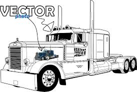 peterbilt coloring pages funycoloring