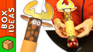 toilet roll reindeer gift wrap diy christmas crafts for kids on