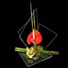 style flower ikebana japanese style flower arrangement