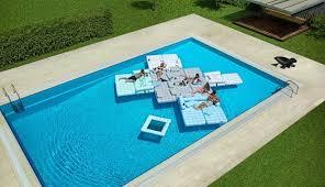 canap gonflable piscine mobilier flottant idées piscine