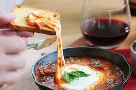 cuisine appetizer baked mozzarella appetizer