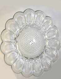 deviled egg serving platter pressed glass deviled egg serving plate made by indiana glass in
