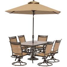 Tile Top Dining Tables Fontana 7 Piece Dining Set With Six Swivel Rocking Chairs A Tile