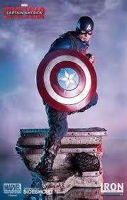 marvel captain america ant man statue iron studios sideshow