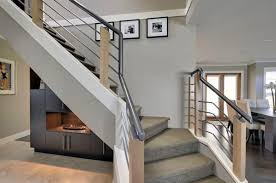 interior elegant interior with small staircase feat metal