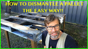 how to dismantle a pallet the easy way two great techniques
