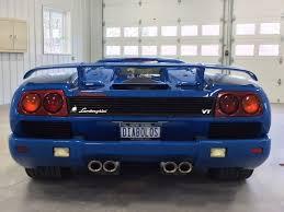 blue lamborghini diablo s 1997 lemans blue lamborghini diablo vt roadster up for sale